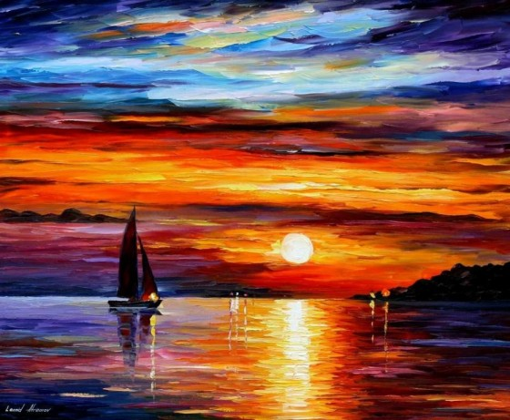 Painting by Leonid Afremov, used with his permission.