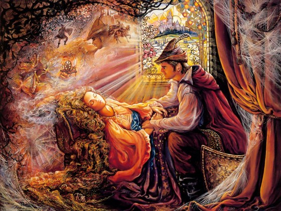 Painting is used by express permission of the artist, Josephine Wall