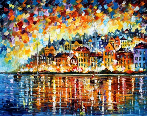 Painting used by express permission of the artist Leonid Afremov with much thanks!