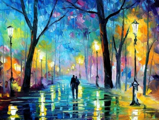 Painting used by express permission of Leonid Afremov with much thanks!