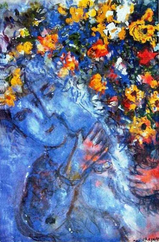 """Art credit, Marc Chagall, """"Amoureaux au Bouquet"""""""