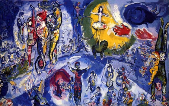 "Art credit, Marc Chagall, ""Circus Folks"""