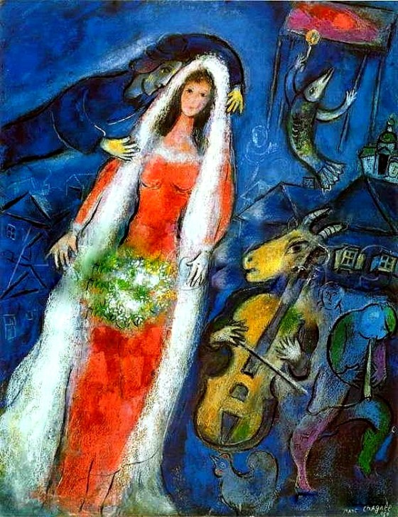 """Art credit, Marc Chagall, """"La Mariee"""""""