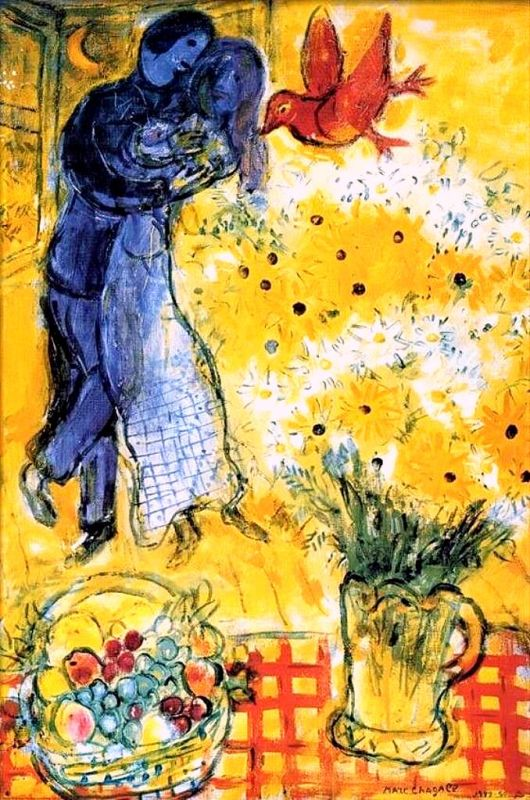 """Art credit with much appreciation to Marc Chagall """"Lovers With Daisies"""""""
