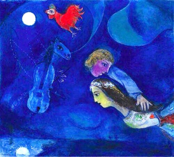 "Art credit, Marc Chagall, ""Lovers in the Sky"""