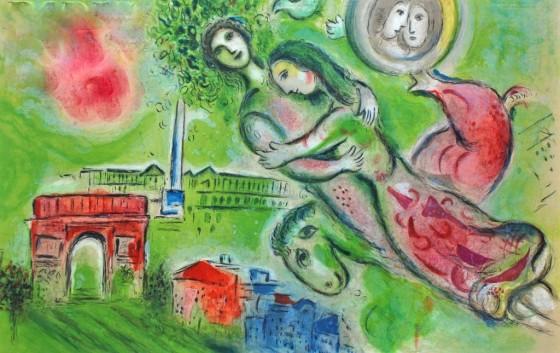 """Art credit, Marc Chagall, """"Paris, I'Opera"""""""