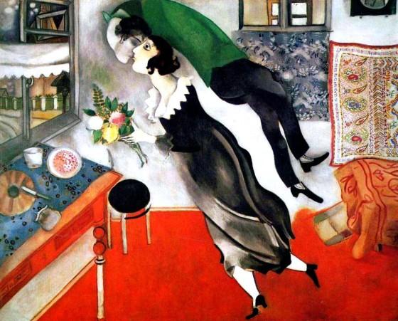"Art credit, Marc Chagall, ""The Birthday"""