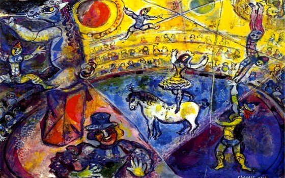 "Art credit, Marc Chagall, ""The Circus Horse"""