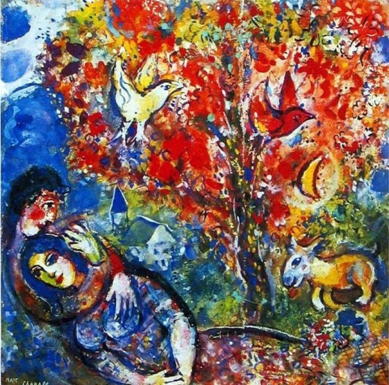 "Art credit, Marc Chagall, ""The Enamoured"""