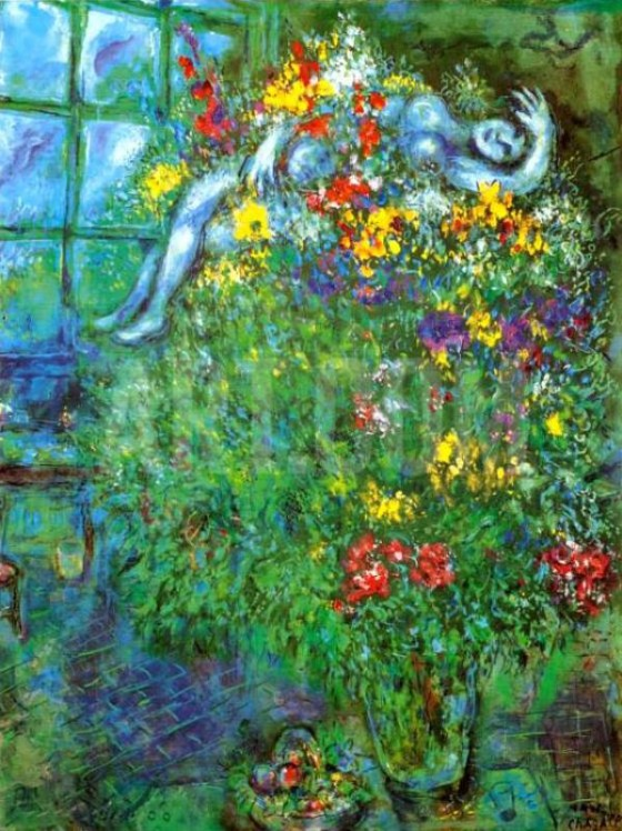 "Art credit, Marc Chagall, ""Le Bouquet Ardent"""