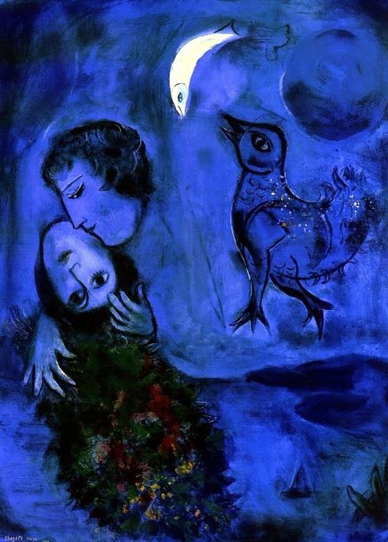 "Art credit, Marc Chagall, ""Le Paysage Bleu"""